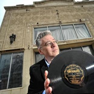 Historian Kurt Gegenhuber held an original 78 rpm record of Moonshiner's Dance Part One  12-10-09 StarTribune