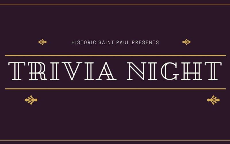 Historic Saint Paul Presents Trivia Night banner