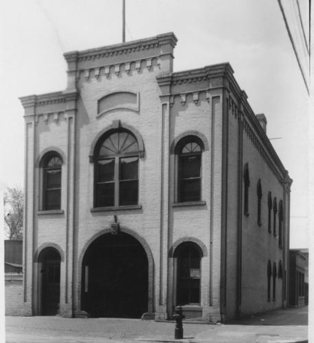 The current Hope Engine Co. No. 3 as the Pioneer Fire Station #3, 1 Leech Street, St. Paul, 1936.