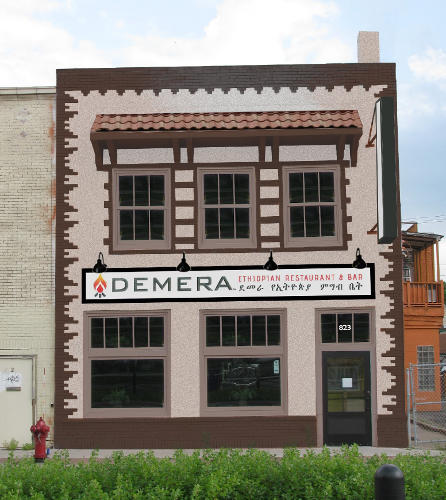 Rendering of Demera, 823 University Avenue, facade rehabilitation