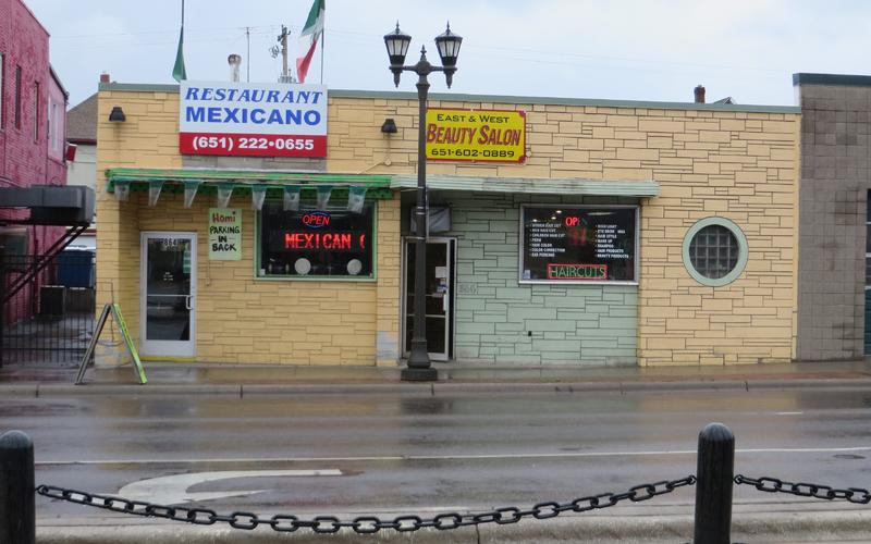 864-66 University Avenue,  Homi Restaurant Mexicano and East & West Beauty Salon, before facade renewal