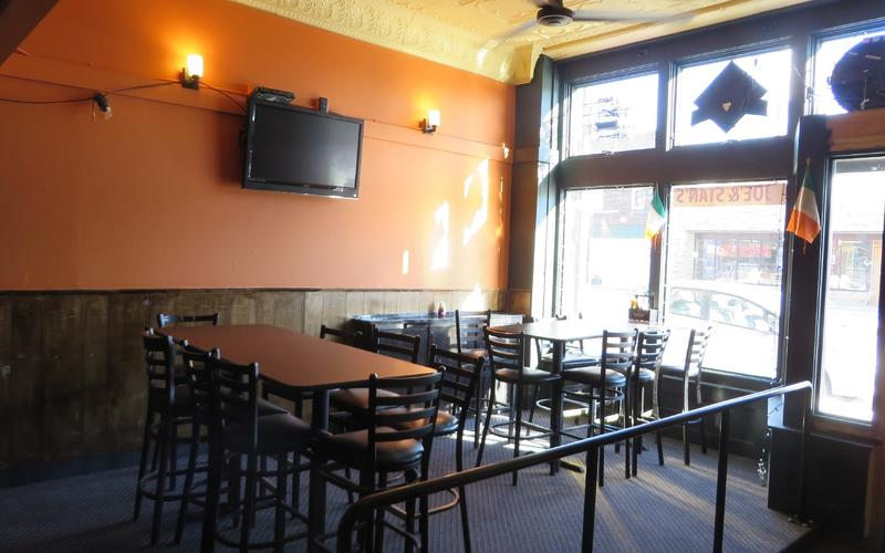 Interior of Joe & Stan's Pub & Grill on January 12, 2015, after storefront renovation