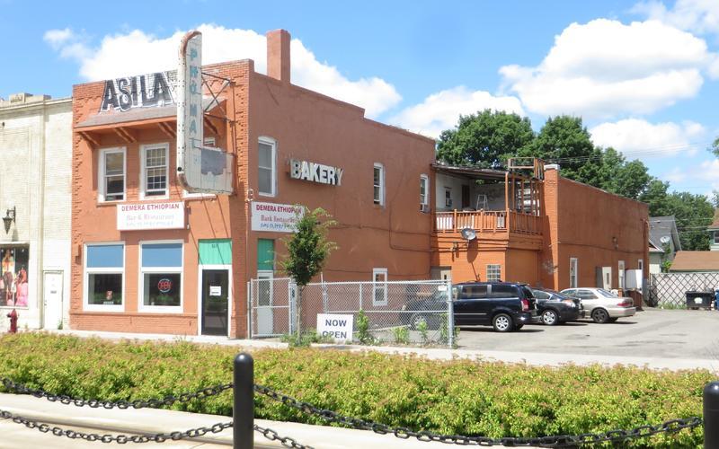 Demera, 823 University Avenue, view from light rail station