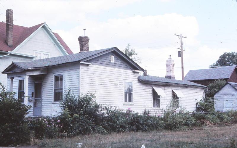 1970's photo of 412 Goodrich by architectural historian Tom Lutz