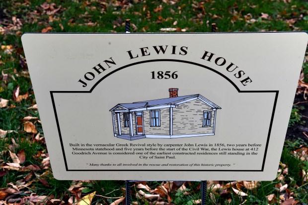 John Lewis House marker