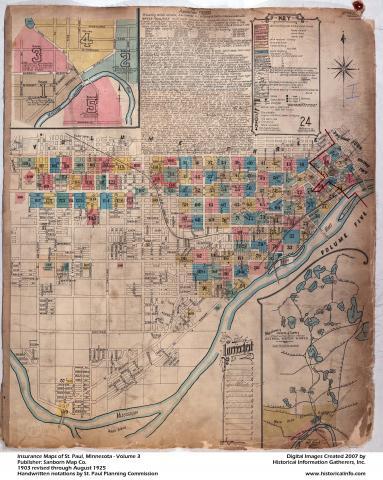 1903 Sanborn Maps Historic Saint Paul