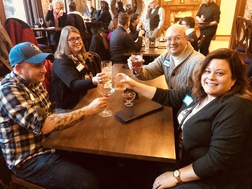 HSP monthly donors at Hotel Celeste toast and tour event